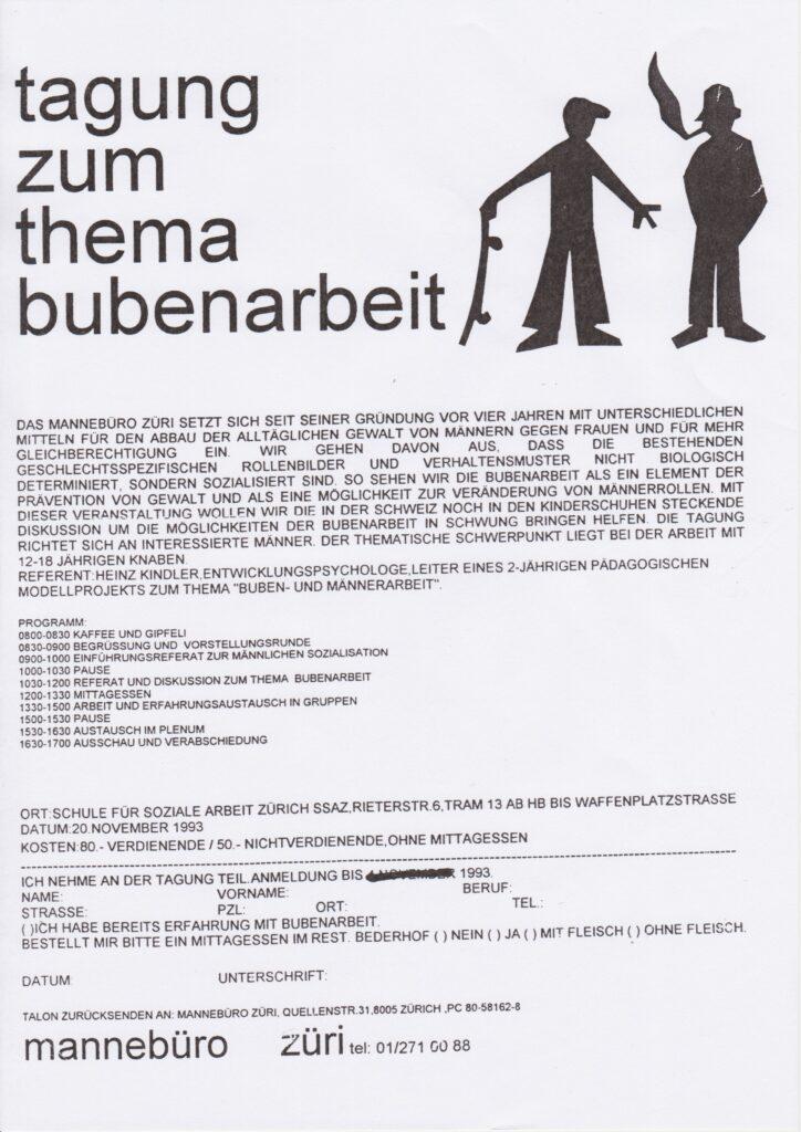 Labor_Maennlichkeit_AusschreibungFachtagungBubenarbeit1993