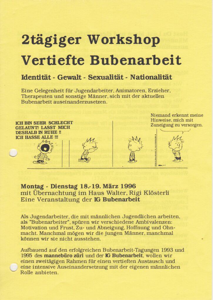 Labor_Maennlichkeit_AusschreibungFachtagungBubenarbeit1995
