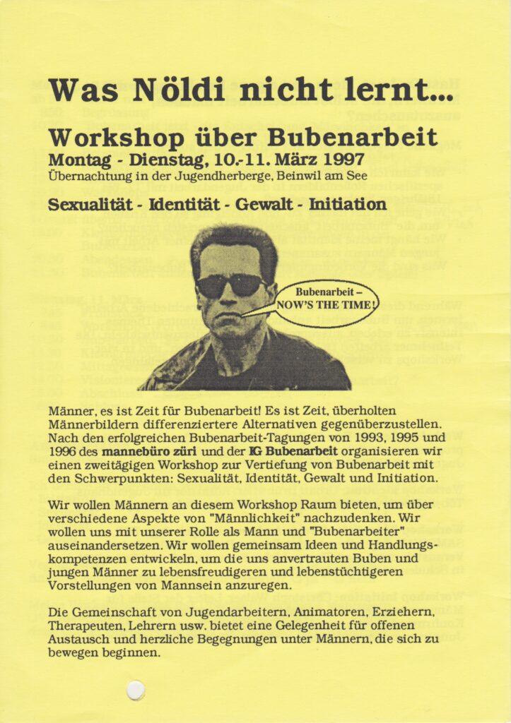 Labor_Maennlichkeit_AusschreibungFachtagungBubenarbeit1997