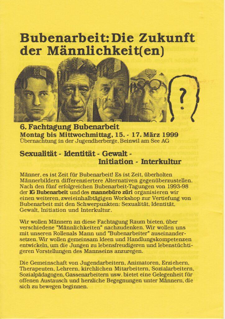 Labor_Maennlichkeit_AusschreibungFachtagungBubenarbeit1999